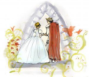 Lia i en vacker vit klänning